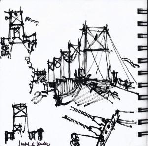 'Bridge From Bull's Island' by Sanford R. Bender